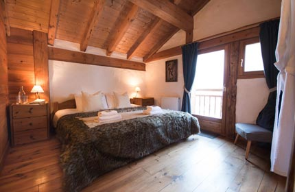 Bedroom 3 in Chalet Alpage, beautifully finished with an en-suite shower room