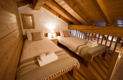 Full height mezzanine level in Bedroom 4, Chalet Alpage
