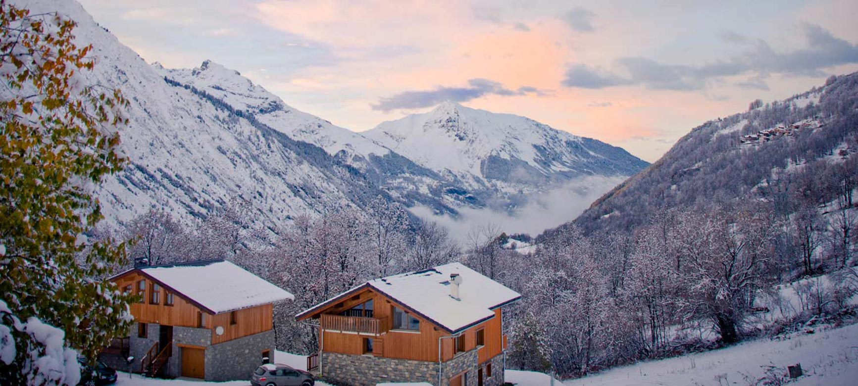 spectacular Mountain Views From Chalet Alpage, Our Luxury Catered Chalet in St Martin de Belleville