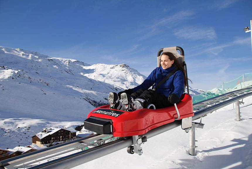 Take the family to the speed mountain ride in Les Menuires at Easter