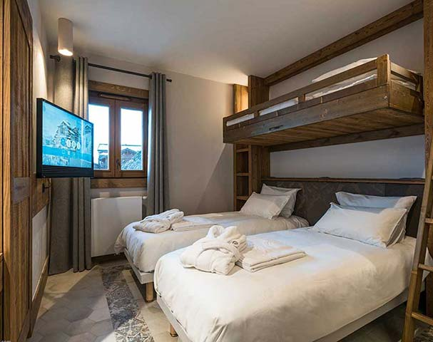 Chalets Cocoon Val Thorens - Luxurious beds, bath robes and towels await you on your ski holiday in Val Thorens.