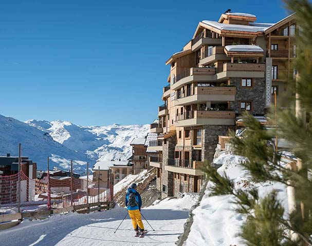 Chalets Cocoon Val Thorens - Ski-in ski-out accommodation with direct access to the Plein Sud piste that runs right to the heart of Val Thorens.