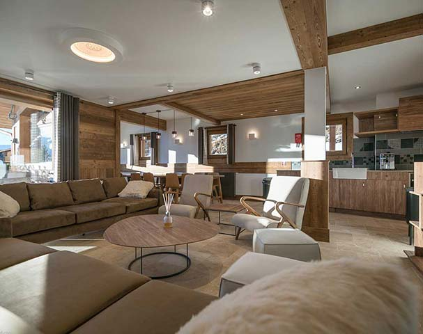 Chalets Cocoon Val Thorens - Luxuriously appointed living spaces are a necessity after an epic day skiing in Val Thorens.