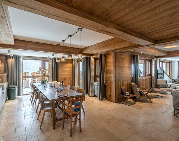 Chalets Cocoon Val Thorens - Large open plan dining rooms are a perfect place to entertain groups of family and friends.