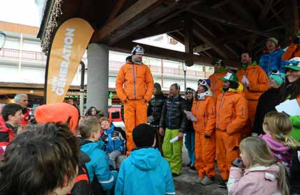New Generation Ski School Meeting Point St Martin de Belleville