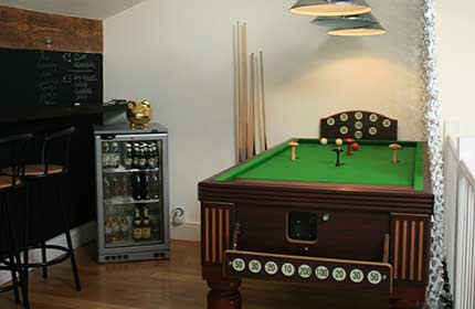 Bar Billiards and Beer Fridge