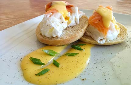 Eggs Benedict for breakfast