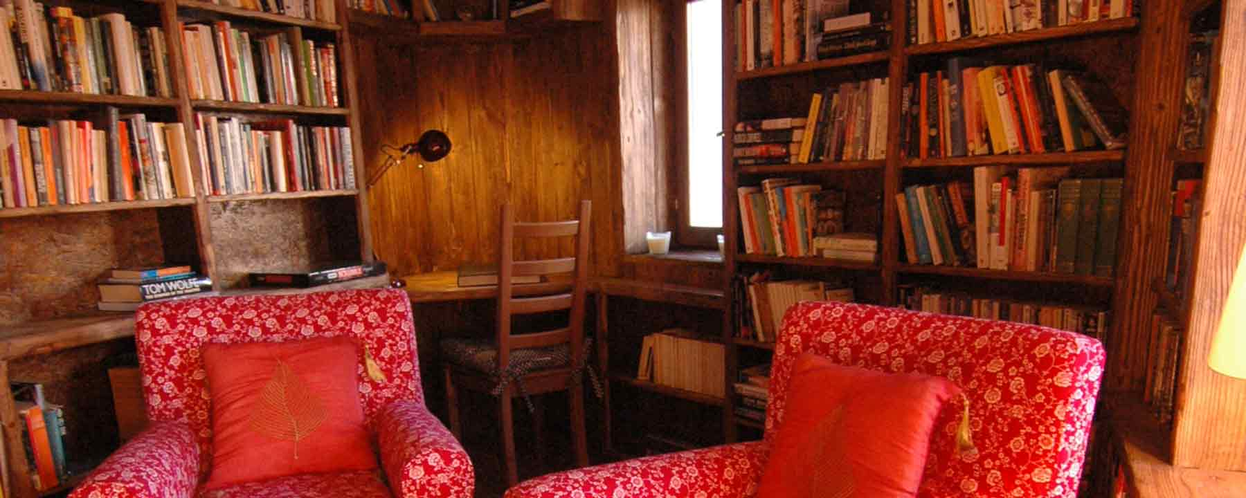 Retreat to the Chalet library