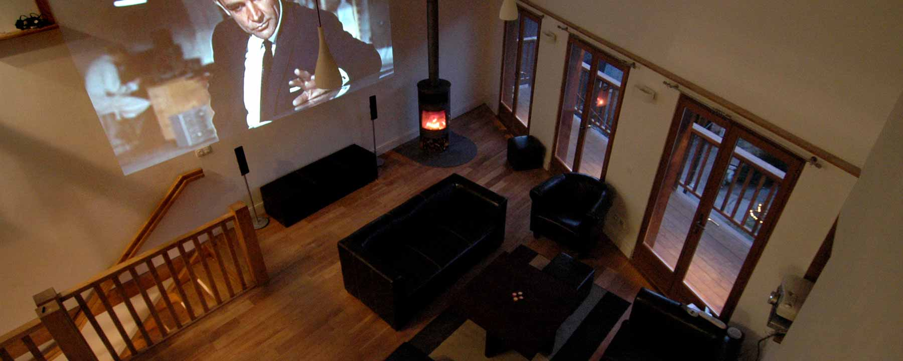 Retire to the lounge for a cinema-like movie experience!