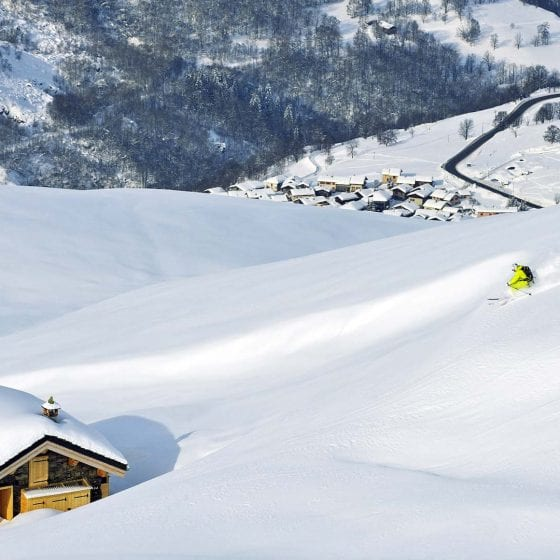 Skiing St Martin de Belleville